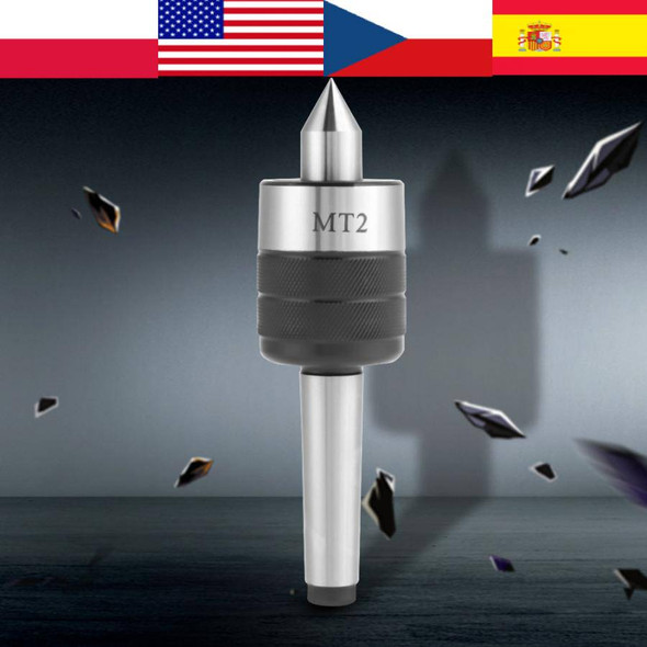 MT2 Accuracy Rotary Live Revolving Milling Center Taper Metal Work Lathe Tool tool wall holder Lathe Center