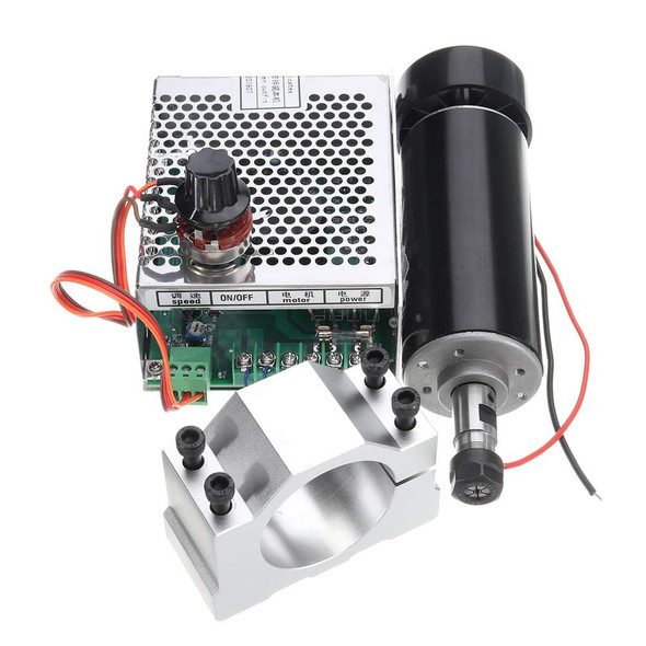 ER11 CNC Spindle 500W Air Cooled Spindle Motor Kit with Adjustable Power Supply 52MM Clamps For Engraving Machine
