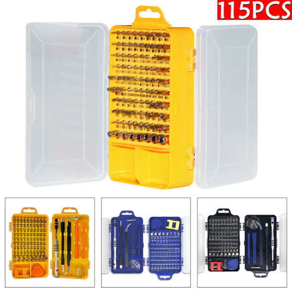 115 in 1 High Precision Screwdriver Set Carry Case Phone Computer Watch Electronic Multifunctional Disassemble Repair Tools Kit