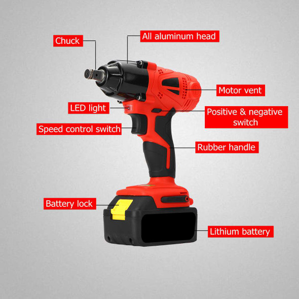 1/2 88VF 10000mAh Electric Brushless Cordless Impact Wrench Rechargeable Drilling Driver 460 Nm for Makita Battery Accessories