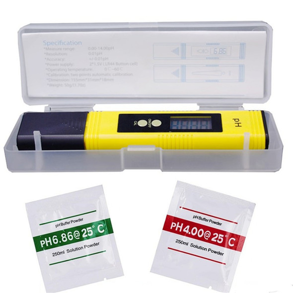 0.01 Digital PH Meter Tester Pocket Size PH Tester Large LCD Display / for Water Quality, Food, Aquarium, Pool Hydroponics /
