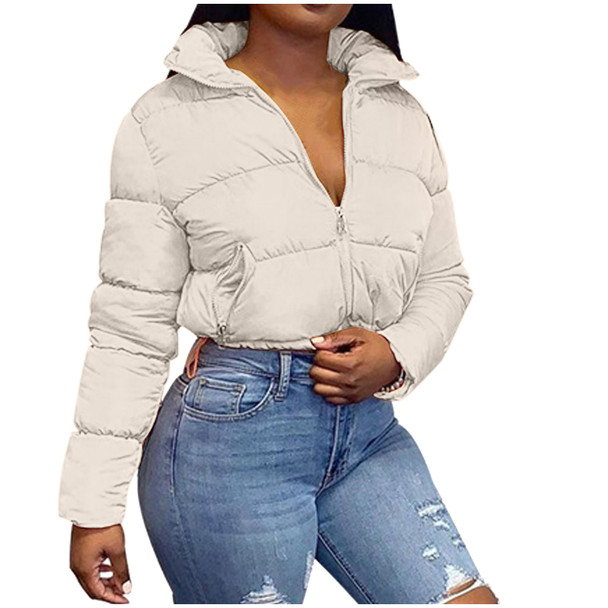 New winter short loose coat Fashion Women Solid Stand-up Collar Down Jacket Outerwear Padded Coat женское платье