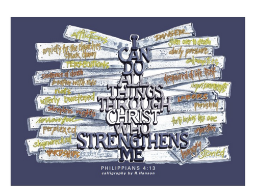 Poster with Philippians 4:13 Verse