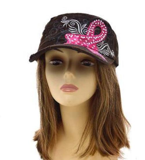 Brown BREAST CANCER AWARENESS FASHION Vintage Original hat b0ddecce0fe