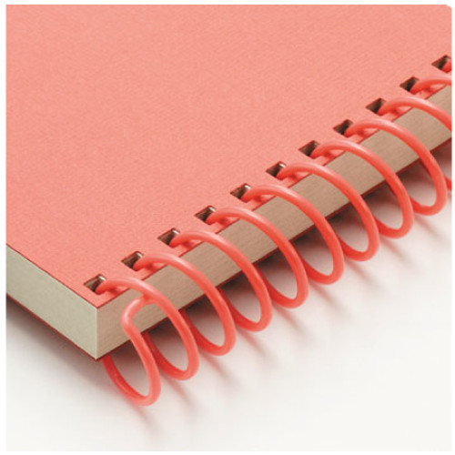 red spiral binds - office products