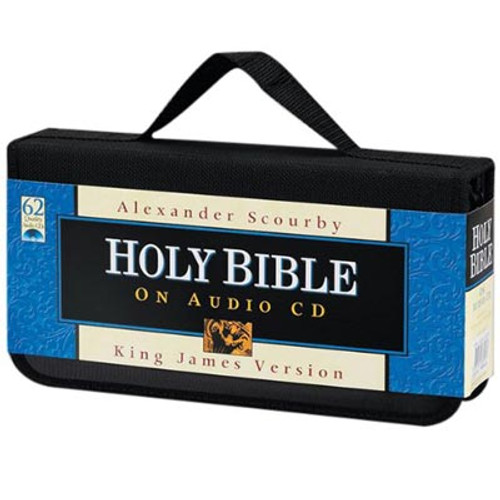 Front view - King James Bible on CD by Alexander Scourby Voice Only on 62 CDs