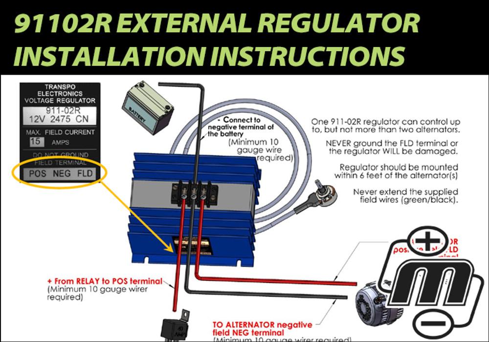 91102R External Regulator Installation