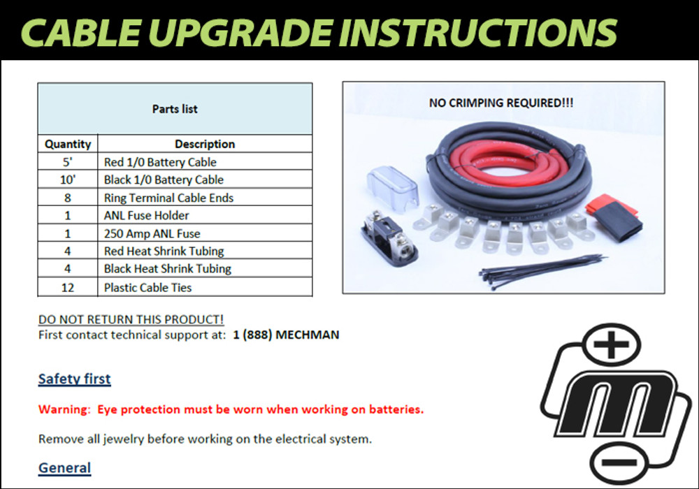 Cable Upgrade Instructions