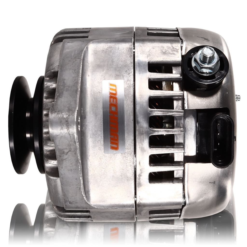 170 amp Racing alternator for 63-85 GM - Natural Finish (includes 2 pulleys)