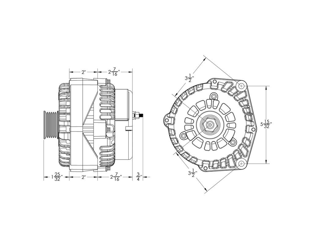 240 Amp High Output Gm Truck Suv Alternator W 4 Pin Oval Plug Gauge Wiring Diagram Delco