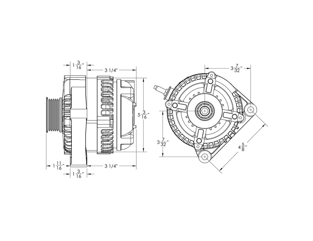 "S Series 170 amp Compact universal ""one wire"" alternator"