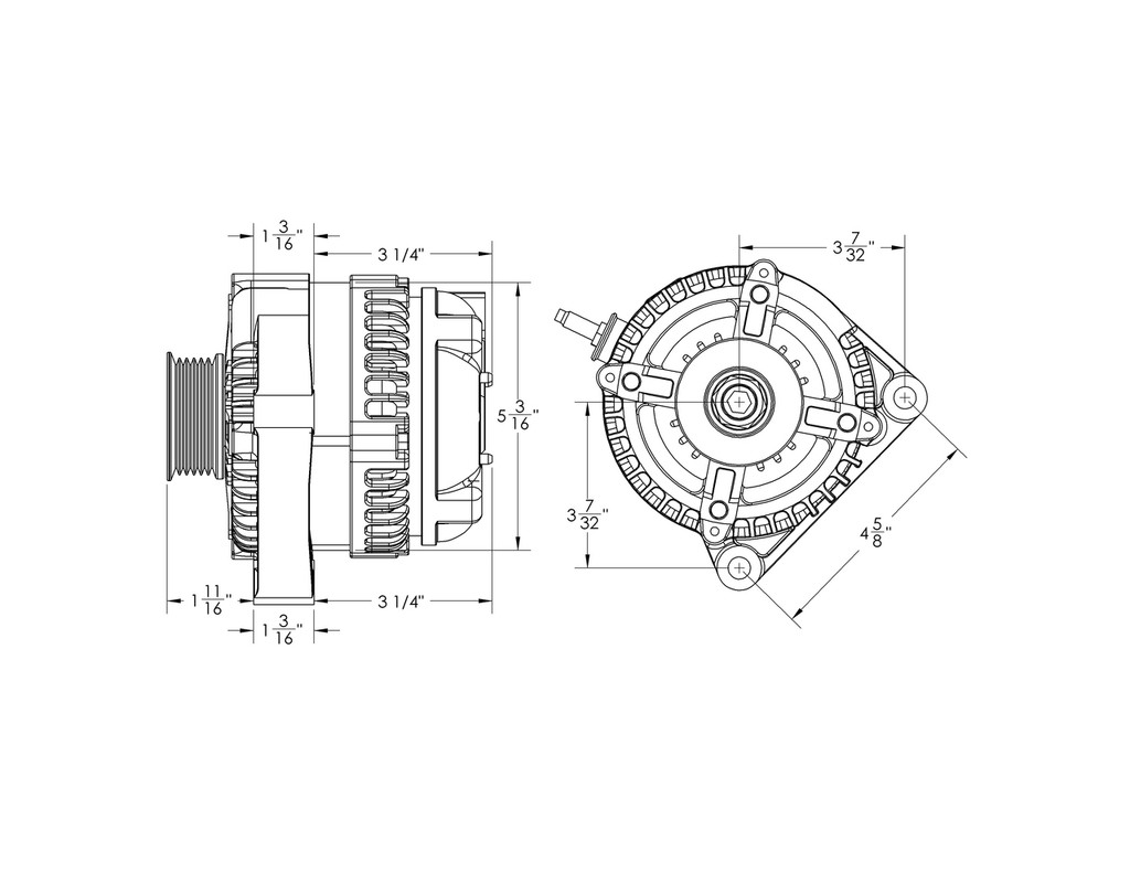 "S Series 320 amp Compact universal ""one wire"" alternator"