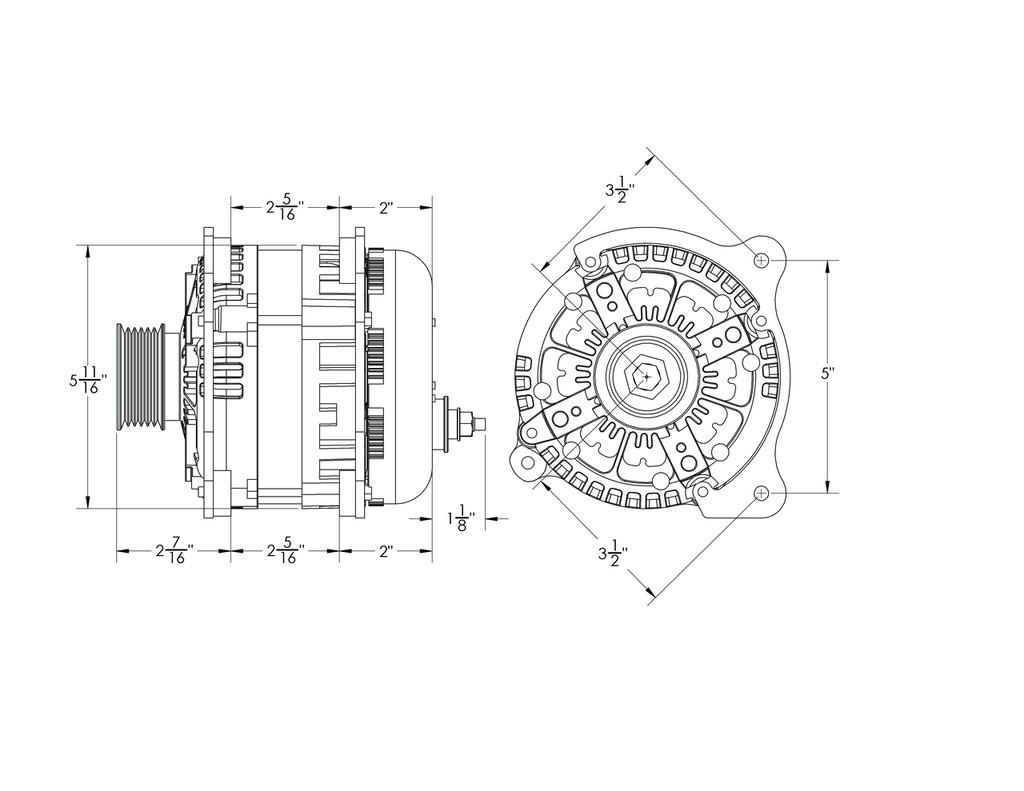 370 amp Alternator for VW / Golf / Jetta / Passat Turbo