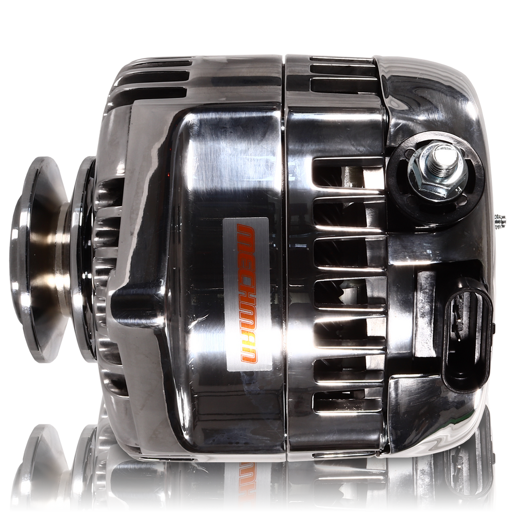 170 amp racing alternator - 63-85 GM - Polished (includes 2 pulleys)