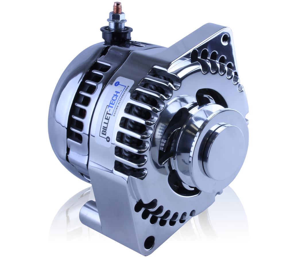 S Series 170a Racing Alt 63 85 Gm 1 Wire Chrome Mechman Chevy Alternator Billet Early Ford