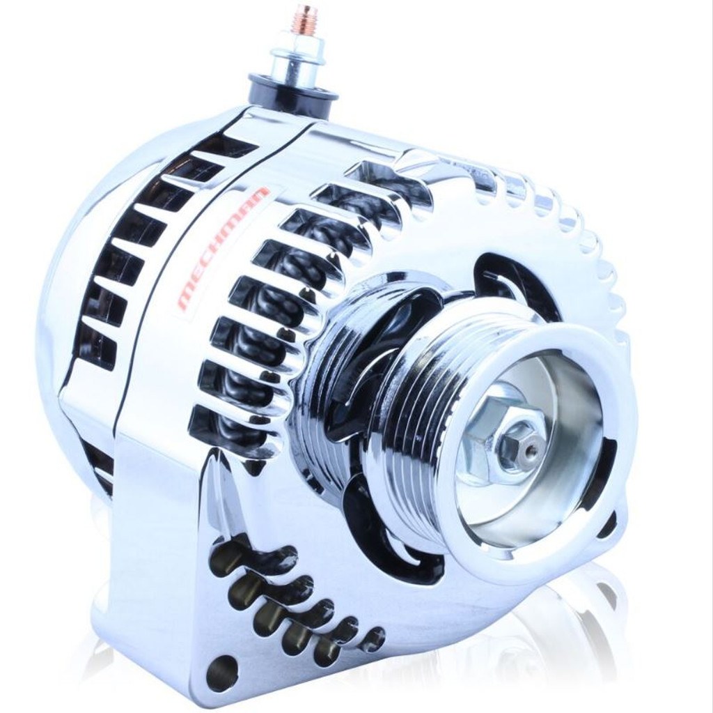 One wire polished 240 amp racing alternator GM truck LS