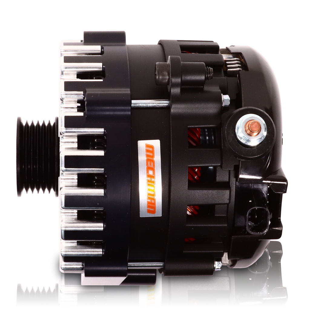 High output 370 Amp Black Billet  Alternator for 14-18 GM Silverado Sierra Suburban Tahoe Escalade