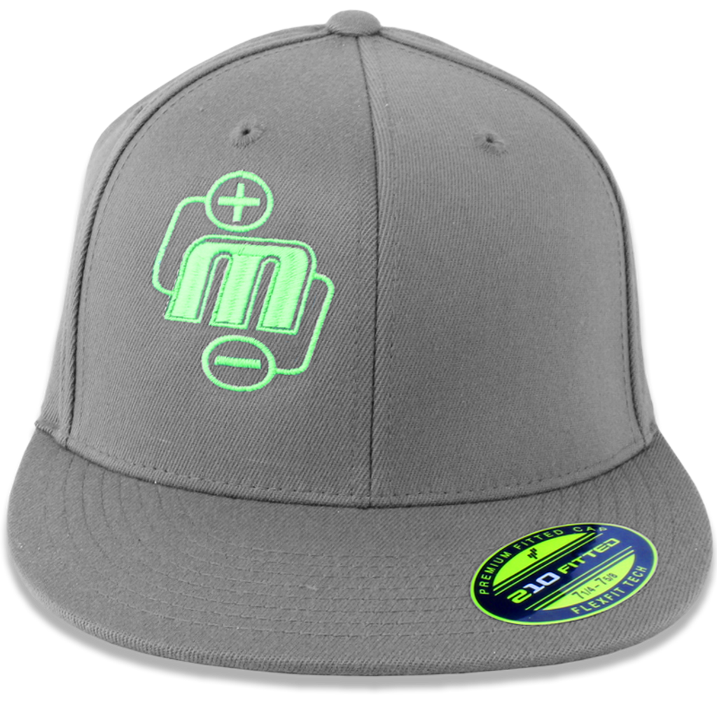 2b5e227aa32c74 Mechman Embroidered Gray Flexfit 210 Flatbrim Fitted Hat - Mechman ...
