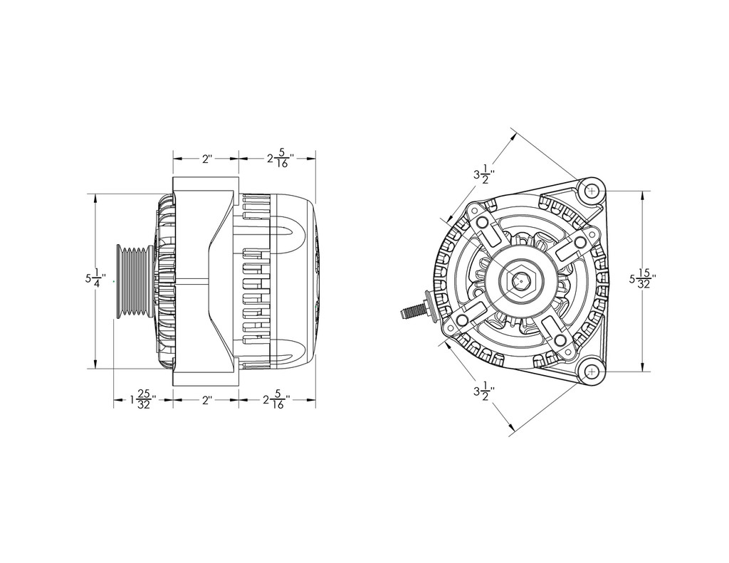 170 amp high output racing one-wire alternator for GM truck ... Racing Alternator Wiring Diagram on