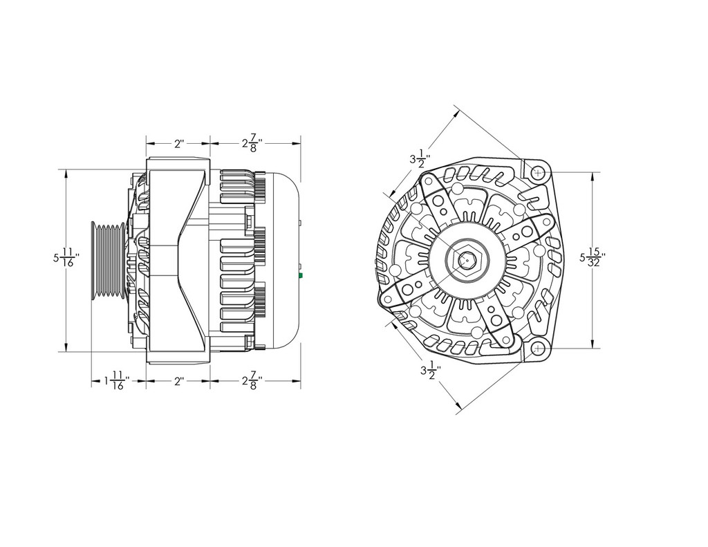 250 amp black high output alternator for Chevy / GMC / Tahoe / Suburban / Escalade / Silverado