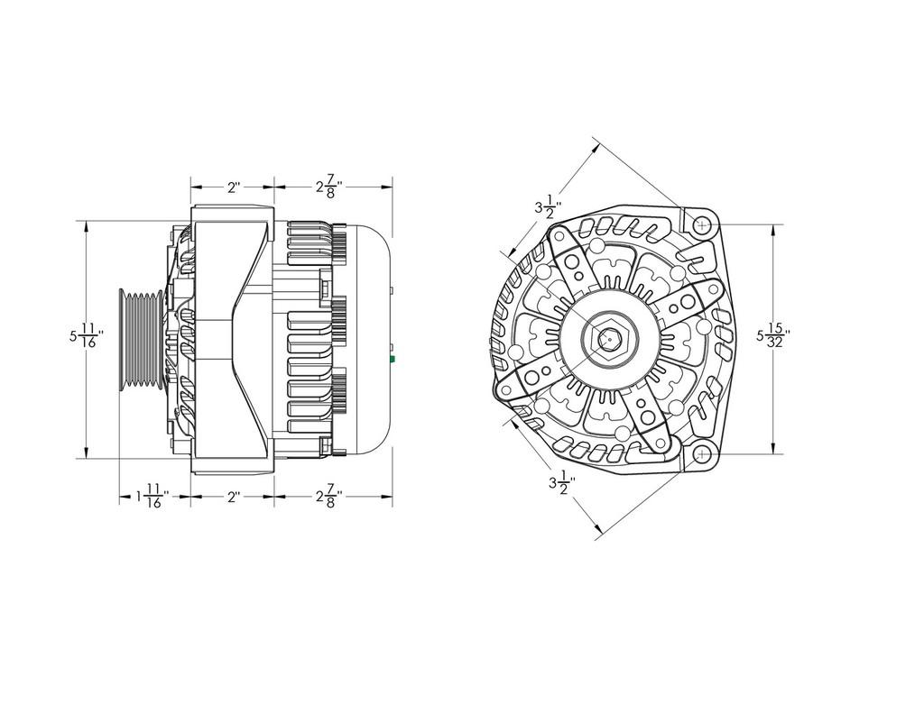 320 amp high output black alternator for Chevy / GMC / Tahoe / Suburban / Silverado / Escalade