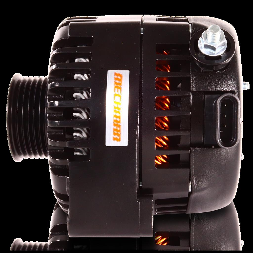 240 Amp 6 Phase 88-95 GM Truck High Output Alternator Black Finish