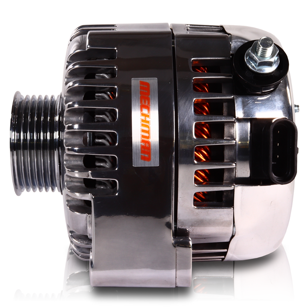 240 Amp 6 Phase 88-95 GM Truck High Output Alternator Polished Finish