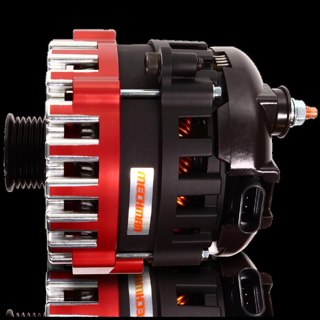 370 amp Elite series alternator for 88-95 GM Truck (Red)