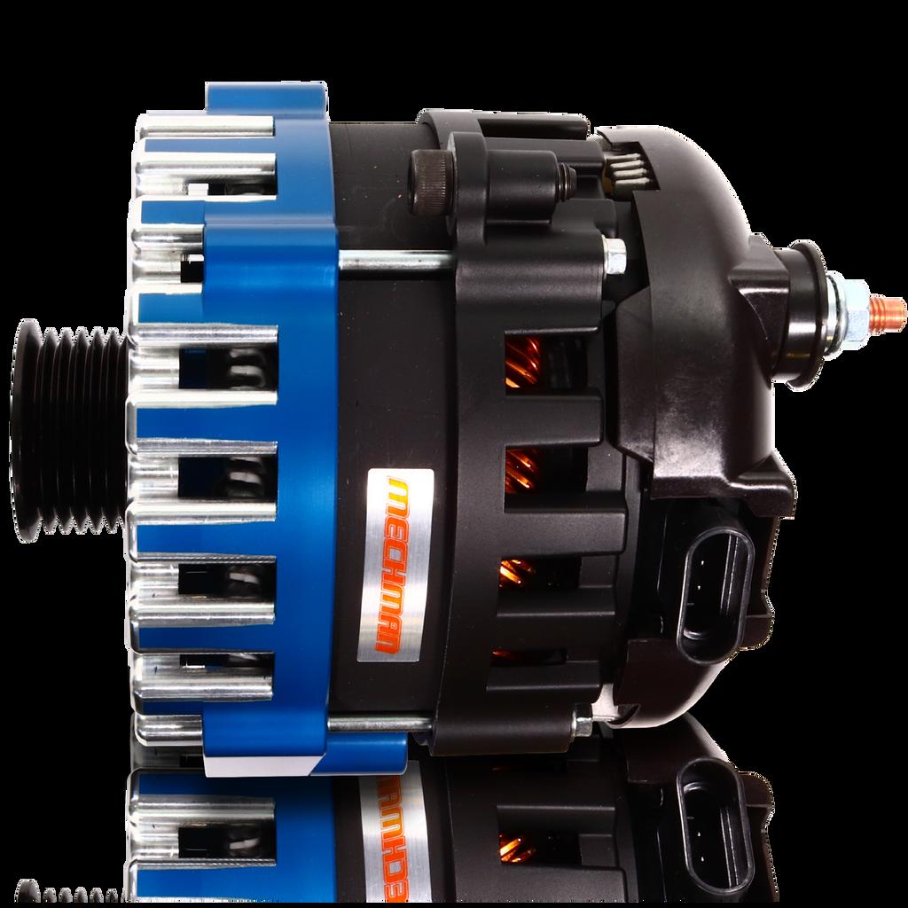 370 amp Elite series alternator for 88-95 GM Truck (Blue)