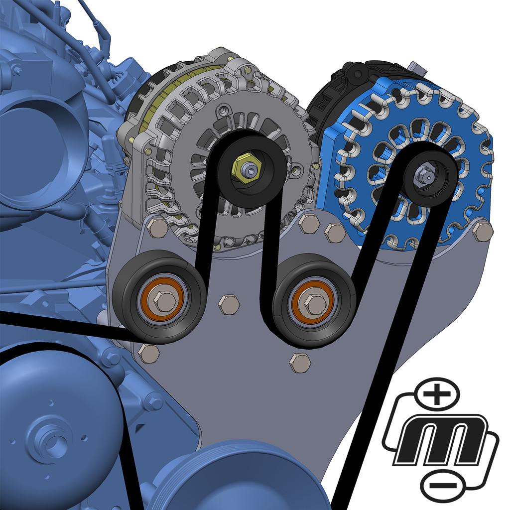 Dual Bracket Blue 05-13 GM Trucks w/4.8L, 5.3L, 6.0L & 6.2L(Includes 1 x B8206400BL)