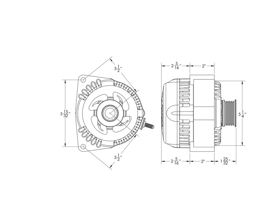 Billet Black 170 Amp Racing Alternator GM Truck LS Engine Swap
