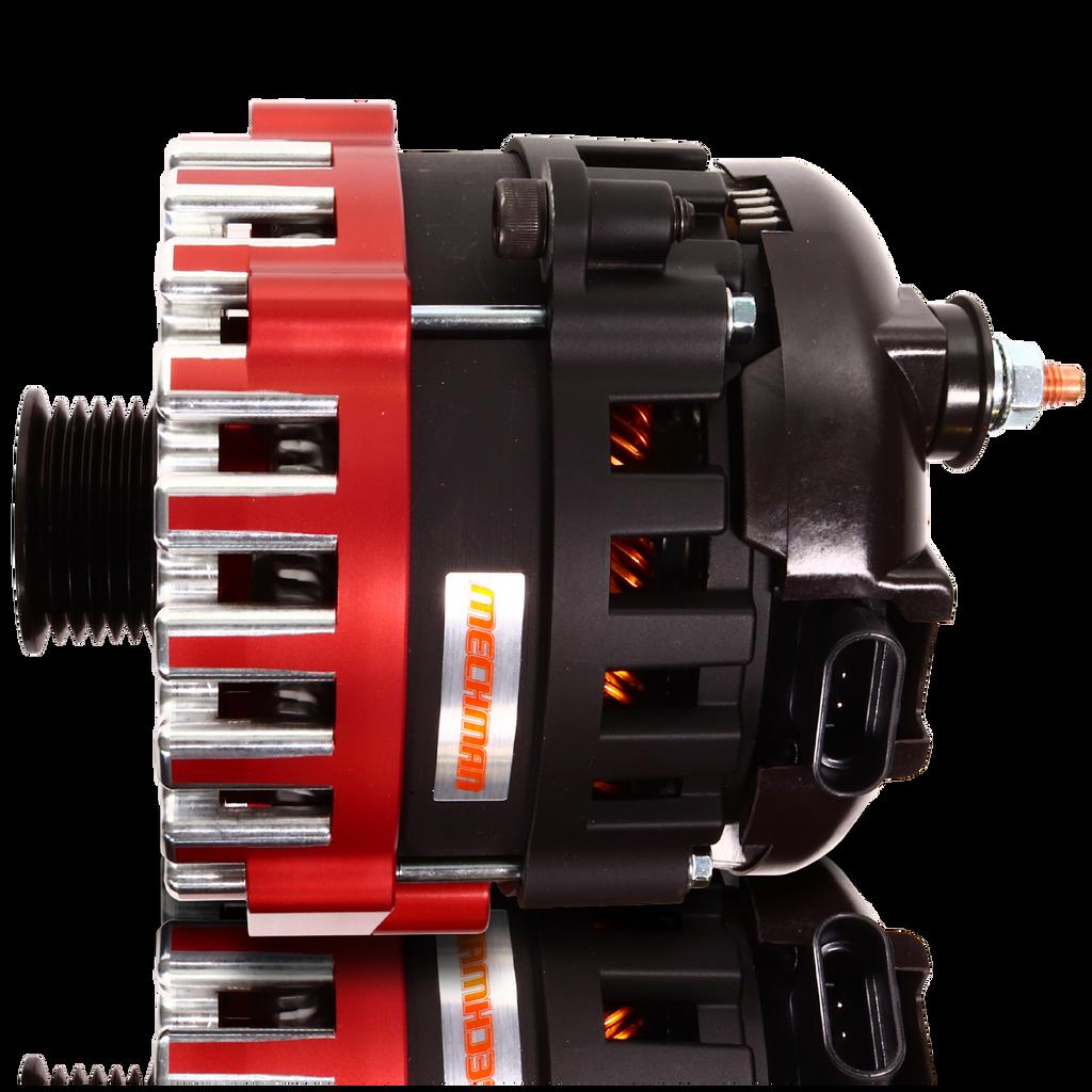 400 amp Elite series alternator for 88-95 GM Truck (Red)