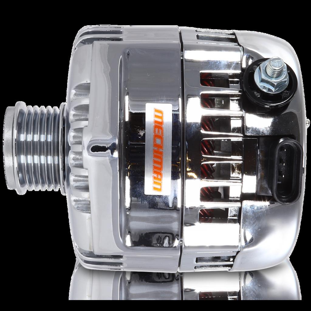 240 amp racing alternator  - Chrome