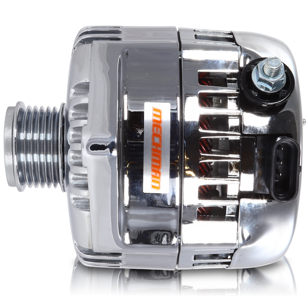 320 amp racing alternator  - Chrome