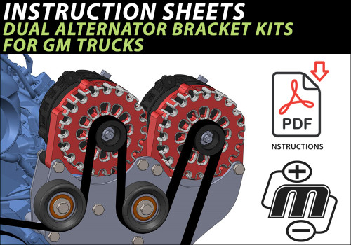 Dual Alternator Bracket Instructions (GM Truck)