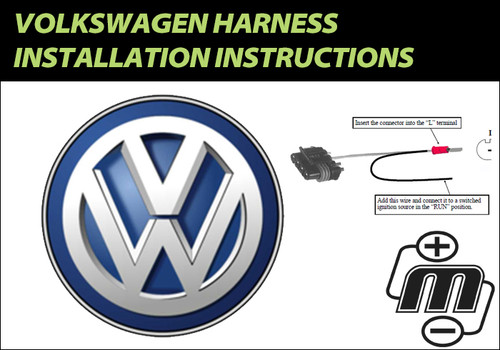 Volkswagen Harness Installation Instructions