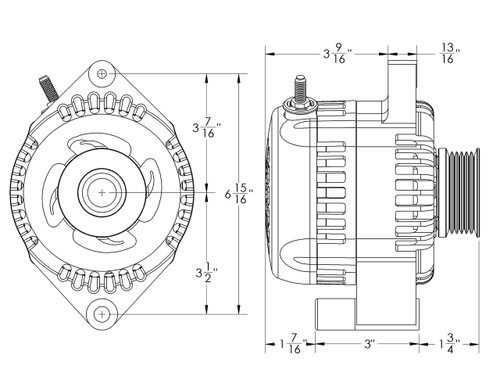 S Series Billet 240 amp 03/04 Cobra - Black Anodized