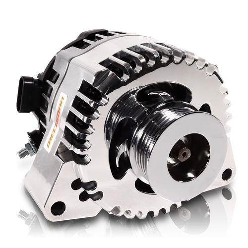 S Series Billet 170 AMP Racing Alternator For C6 Corvette - Polished Finish