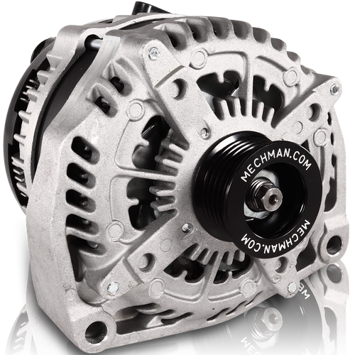 NEW CHROME ALTERNATOR FORD,MUSTANG,COBRA,GT,6S BILLET PULLEY,HIGH OUTPUT 250AMP