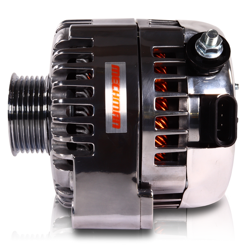240 Amp 6 Phase 88-95 GM Truck High Output Alternator Polished Finish