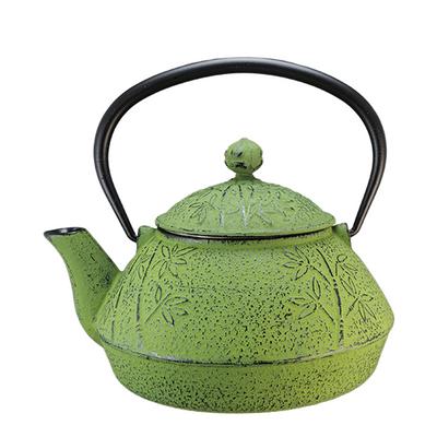 Bamboo Cast Iron Teapot Green By Vedic Teas