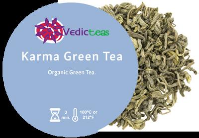 Karma Green Tea, Pyramid Tea Bag