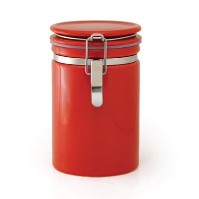 Zero Japan Tea & Coffee Canister 200g - Tomato Colour