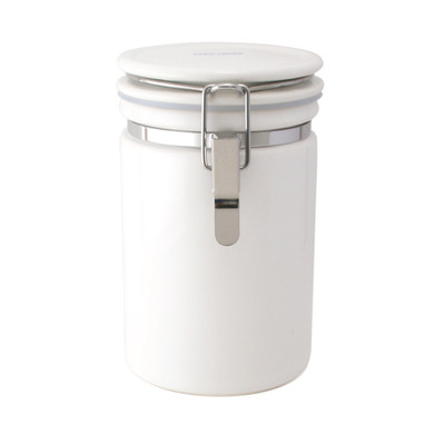 Zero Japan Tea & Coffee Canister 200g - White Colour