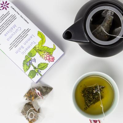 Turmeric Lemon Balm, Pyramid Tea Bags 20CT