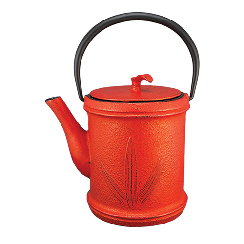Three Leaves Cast Iron Teapot By Vedic teas
