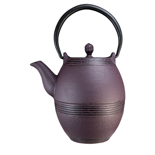 Barrel Cast Purple Iron Teapot By Vedic teas