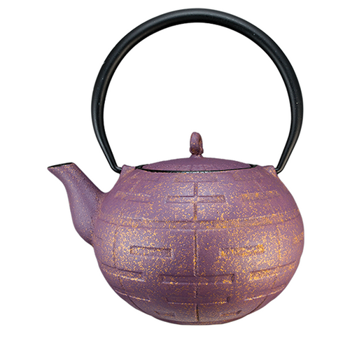 Purple Gold Cast Iron Teapot By Vedic Teas