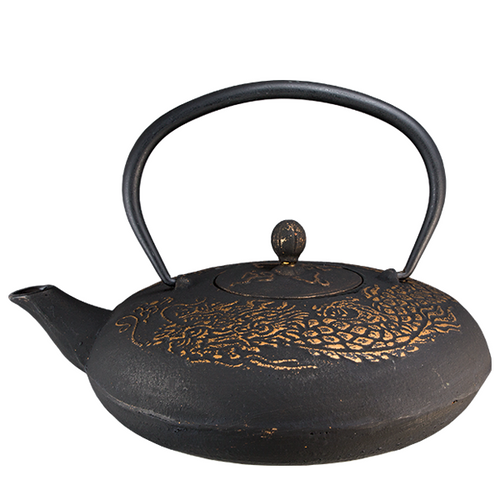 Golden Dragon Cast Iron Teapot By Vedic Teas
