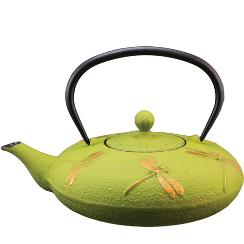 Dragon Fly Green Cast Iron Teapot By Vedic Teas